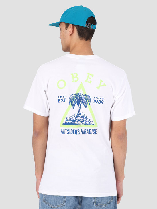 Obey Obey Outsider'S Paradise T-Shirt WHT 163081923