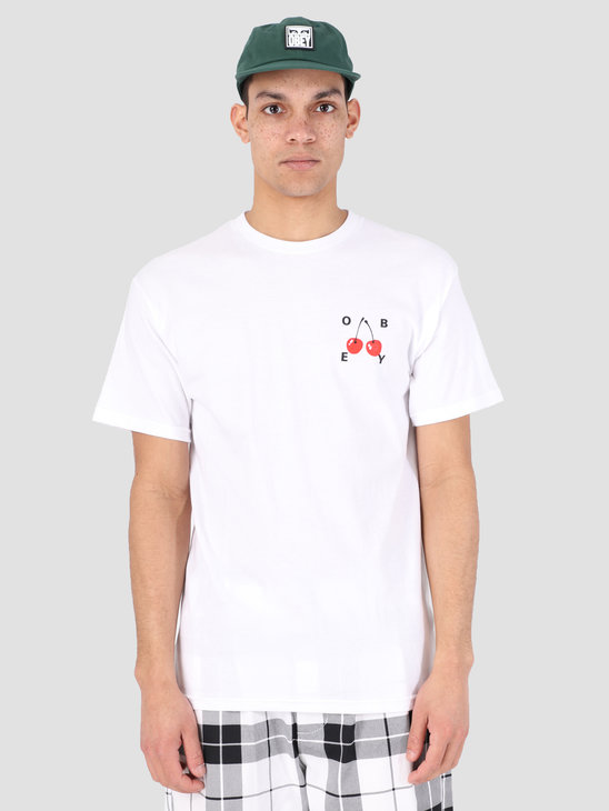 Obey Obey Cherries 2 T-Shirt WHT 163081895