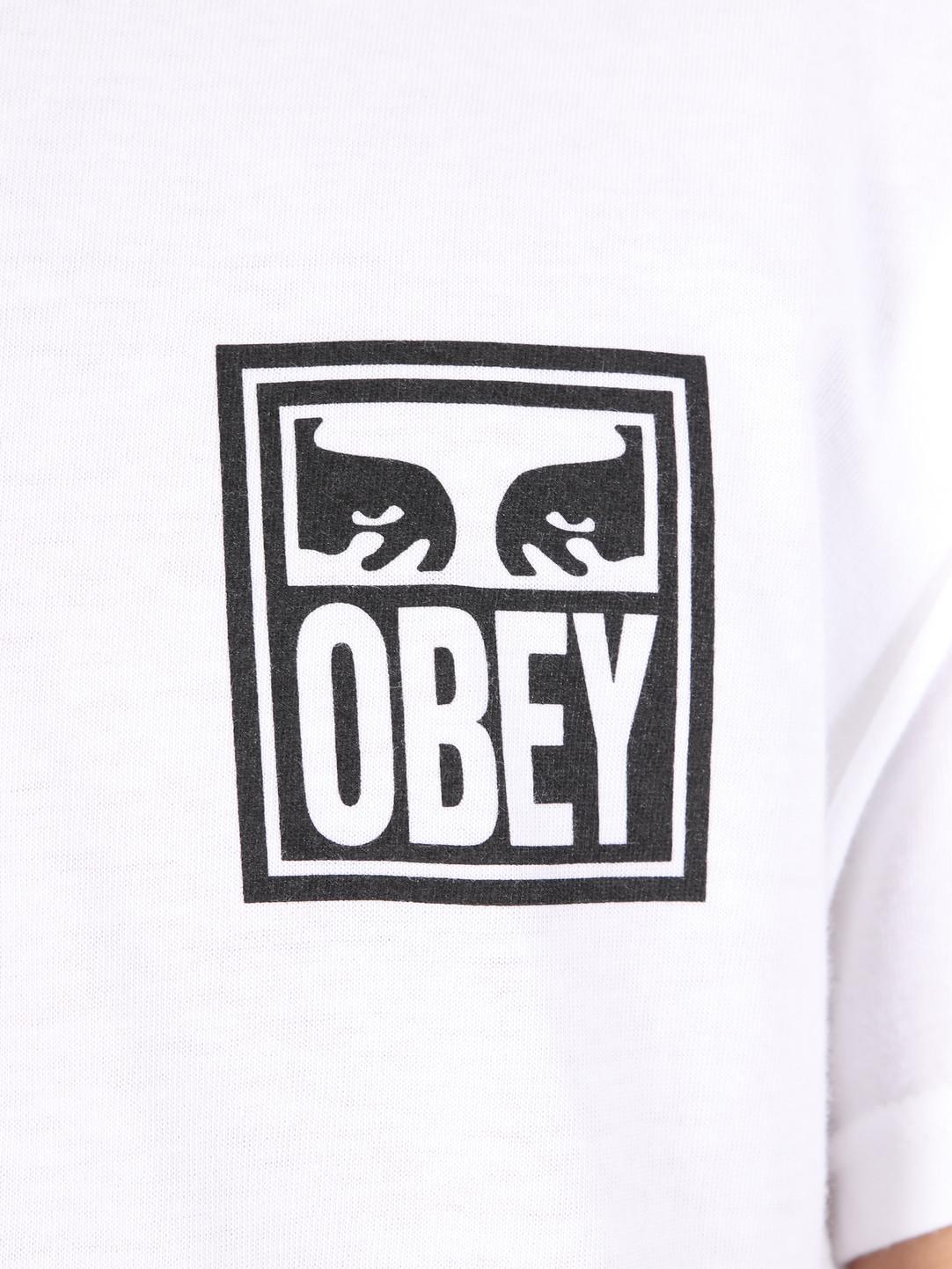 Obey Obey Obey Eyes Icon T-Shirt WHT 163081874