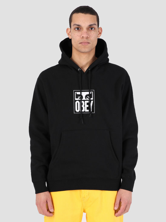 Obey Split Eyes Hood BLK 112470048