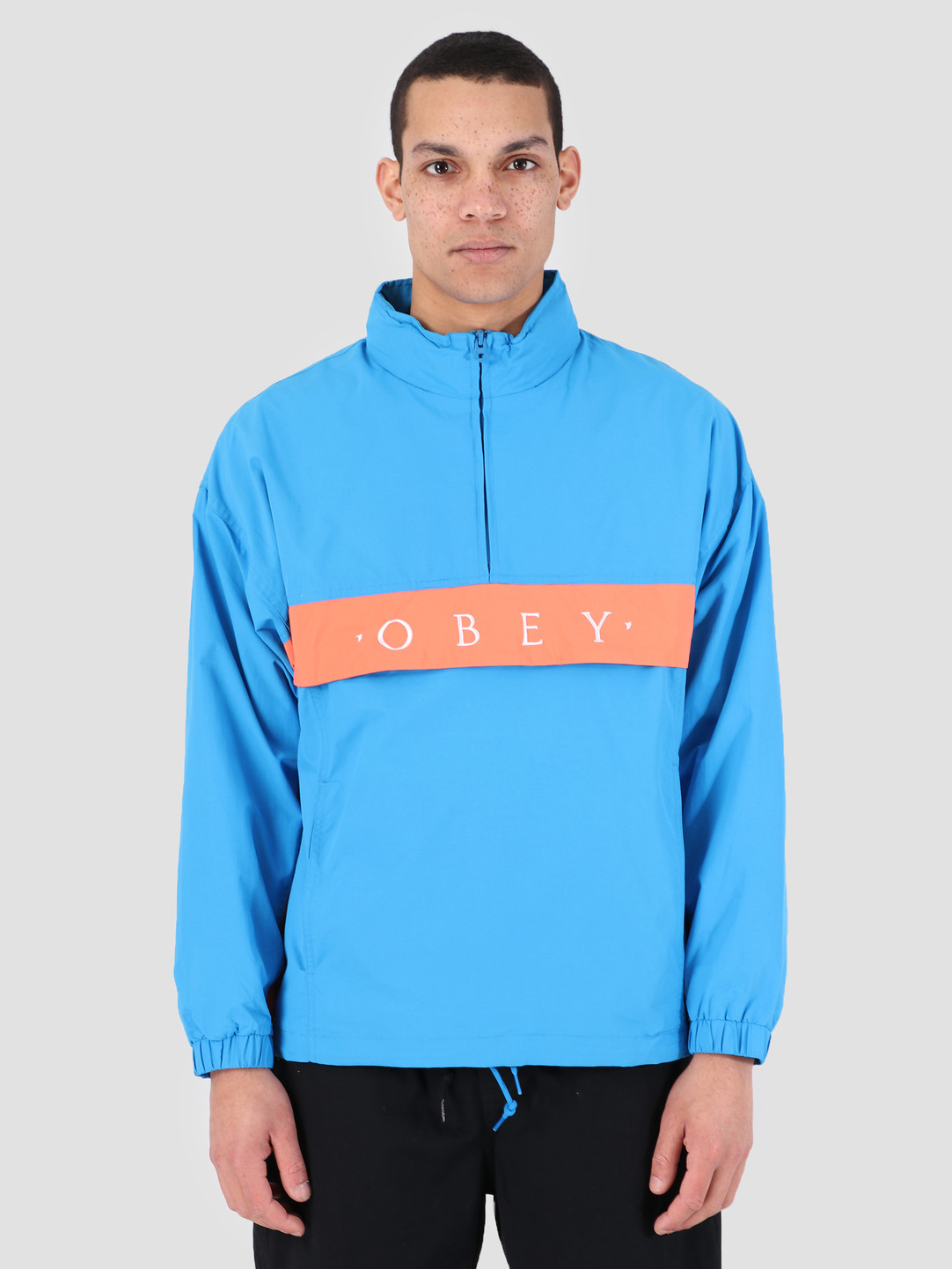 Obey Obey Title Anorak SKY 121800362