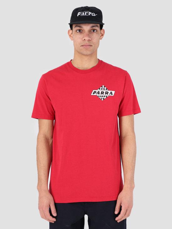 By Parra T-Shirt Upside Down Bird Red 42120