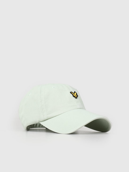 Lyle and Scott Washed Twill Baseball Cap Z457 Sea Foam Green HE1003A ... 867772706110