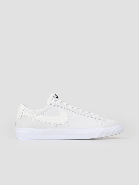 Nike SB Blazer Low GT Skateboarding Shoe Summit White Summit White-Obsidian 704939-100