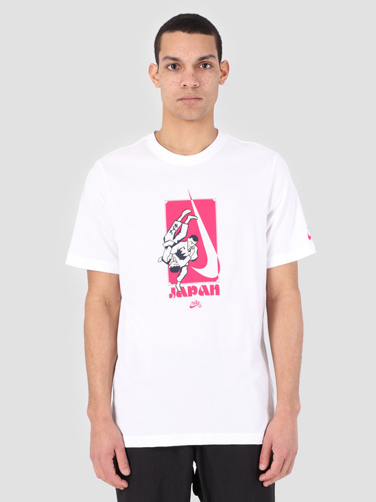 Nike SB T-Shirt Dri-Fit White Rush Pink Ao0384-100