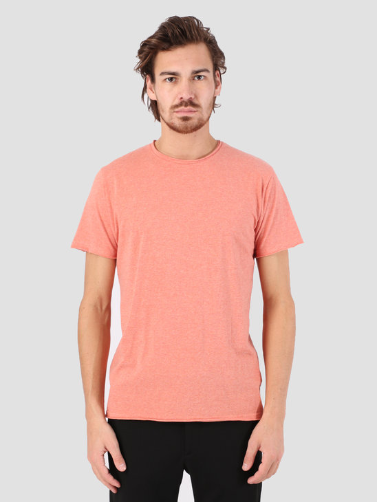 RVLT Rolled Edges T-Shirt Red Melange 1003