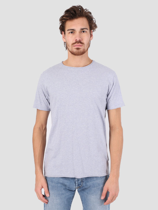 RVLT Rolled Edges T-Shirt Purple Melange 1003