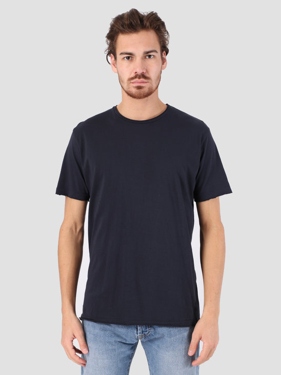 RVLT Rolled Edges T-Shirt Navy 1003