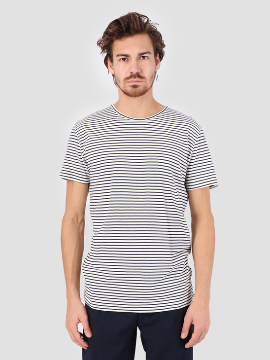 RVLT Striped T-Shirt Offwhite 1005