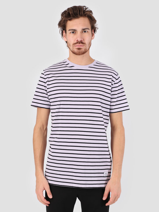 RVLT Big Striped T-Shirt  Purple 1016