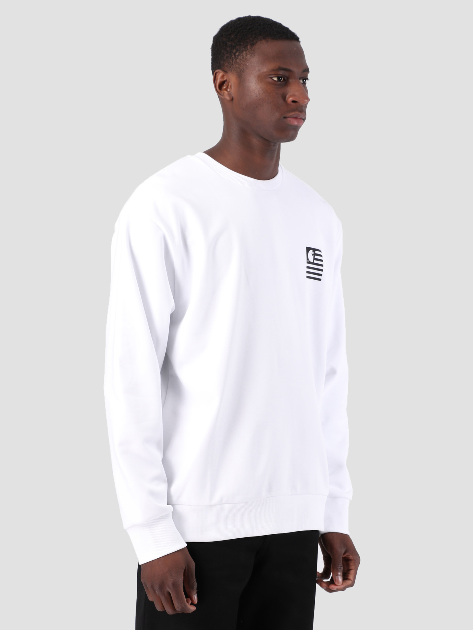 Carhartt WIP Carhartt WIP State Patch Sweat White I026347