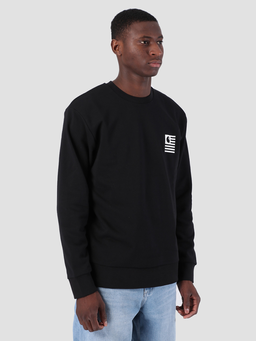 251db810 Carhartt WIP State Patch Sweat Black I026347 | FRESHCOTTON