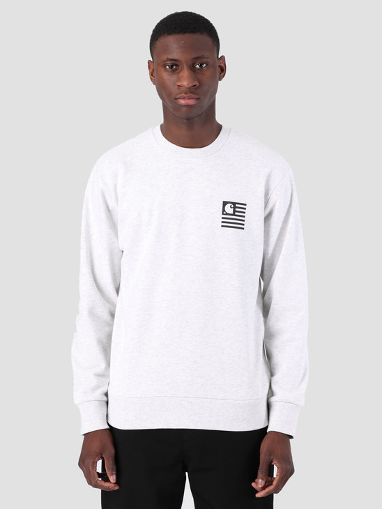 Carhartt WIP State Patch Sweat Ash Heather I026347
