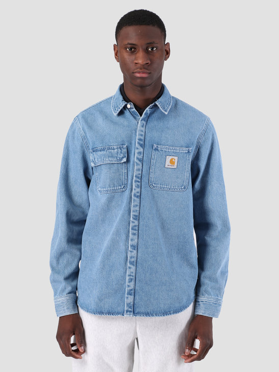 Carhartt WIP Salinac Shirt Jac Light Stone Washed Blue I023977