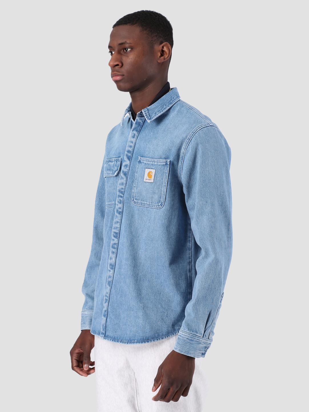 Carhartt WIP Carhartt WIP Salinac Shirt Jac Light Stone Washed Blue I023977