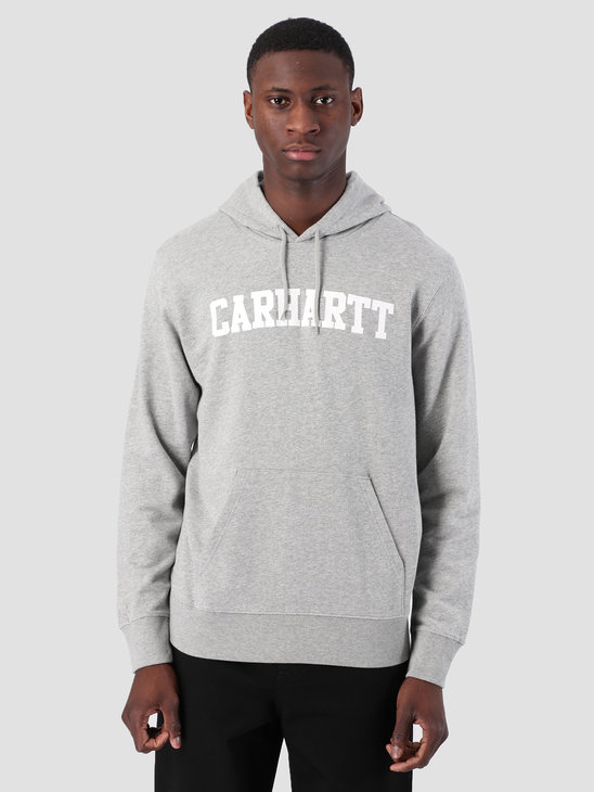 Carhartt WIP Hooded College Sweat Grey Heather White I024669