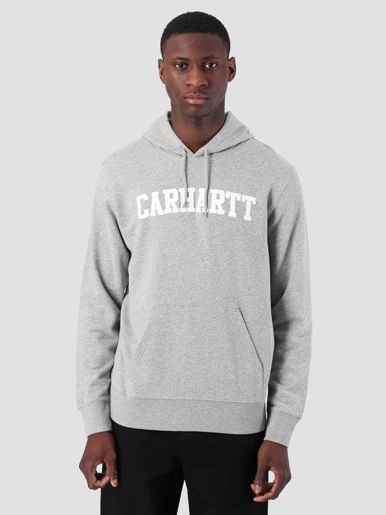 Carhartt WIP Hooded College Sweat Grey Heather White I024669