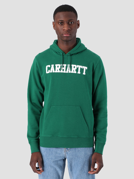 Carhartt WIP Hooded College Sweat Dragon White I024669