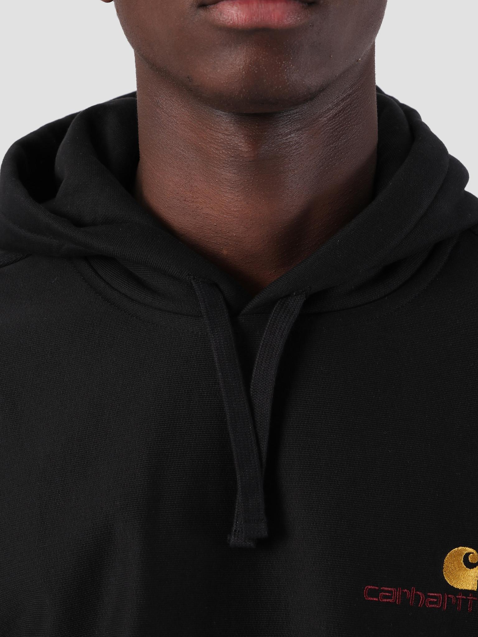 Carhartt WIP Carhartt WIP Hooded American Script Sweat Black I027041