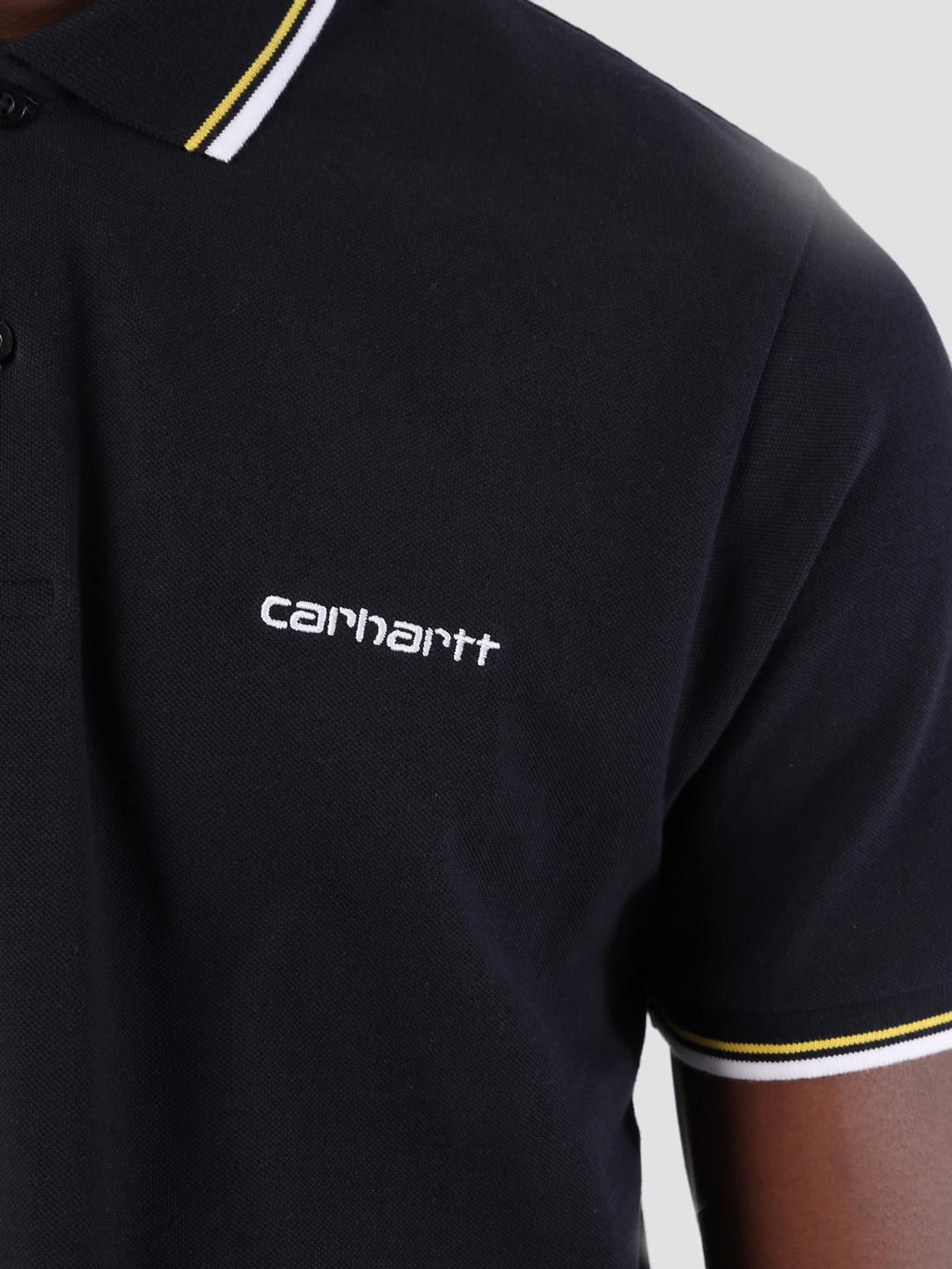 Carhartt WIP Carhartt WIP Script Embroidery Polo Dark Navy White Primula I026244