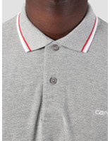 Carhartt WIP Carhartt WIP Script Embroidery Polo Grey Heather White Cardinal I026244