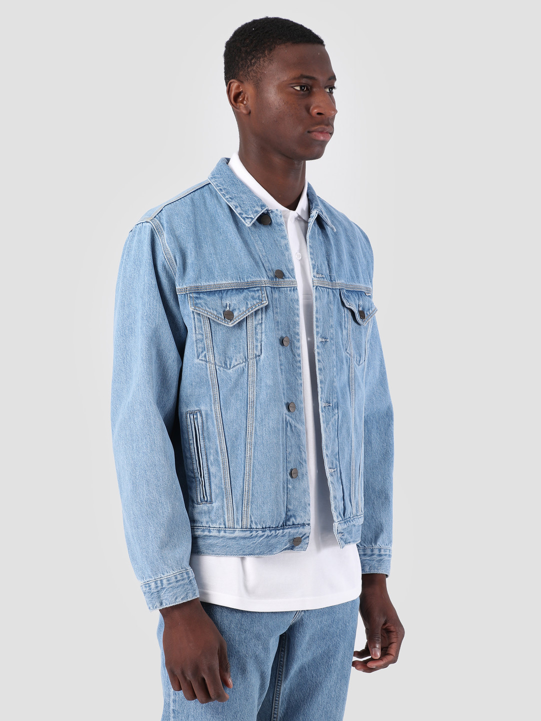 Carhartt WIP Carhartt WIP Western Jacket Stone Bleached Blue I026544