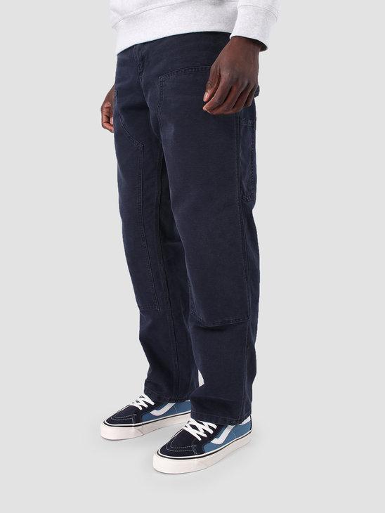Carhartt WIP Double Knee Pant Aged Canvas Dark Navy I026489
