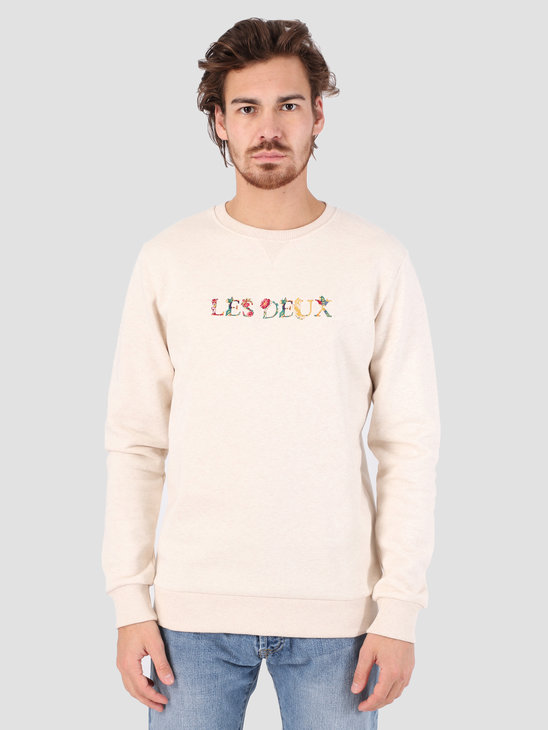 Les Deux Fleur Sweatshirt Light Brown LDM200038