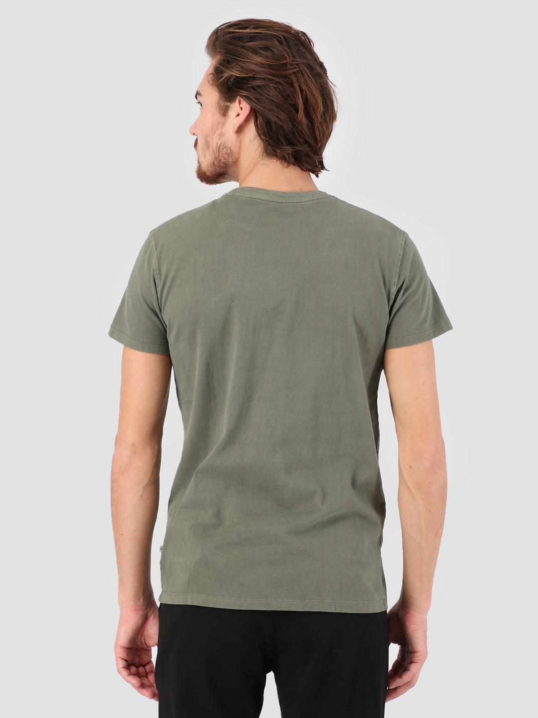 Kronstadt Kronstadt Hey Ho Basic T-Shirt Moos KS2455