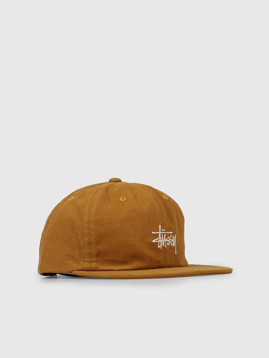 Stussy Washed Oxford Strapback Cap Mustard 0203