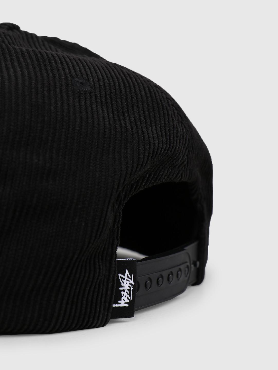 Stussy Stussy Washed Cord Cap Black 0001