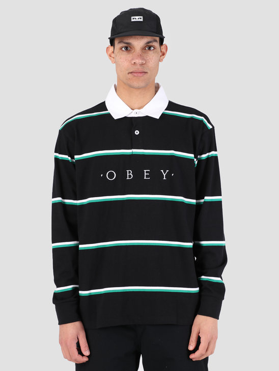 Obey Washer Claic Polo Longsleeve BKM 131040017