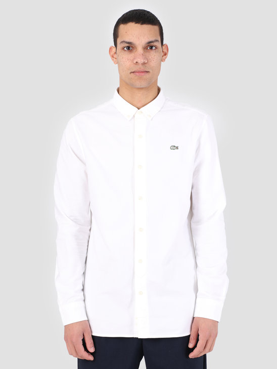 Lacoste LIVE 1Hc2 Men'S Longsleeve Woven Shirt 01 Mascarpone White Ch3766-91