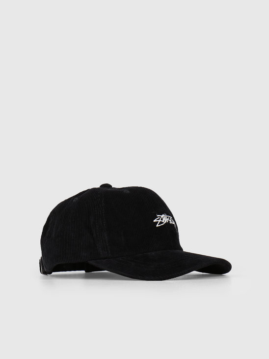 Stussy Corduroy Low Pro Cap Black 0001