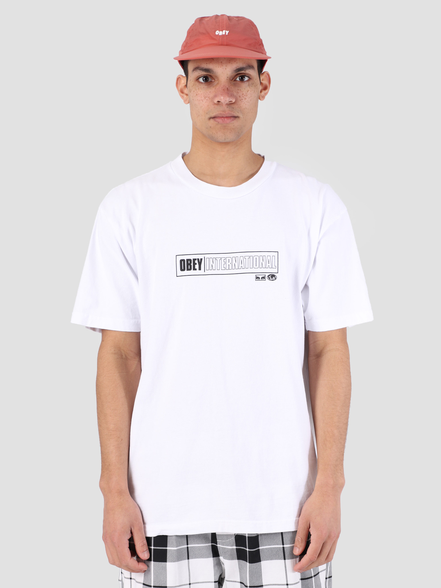 Obey Obey Obey Intl. Cities Classic Box T-Shirt WHT 166911893