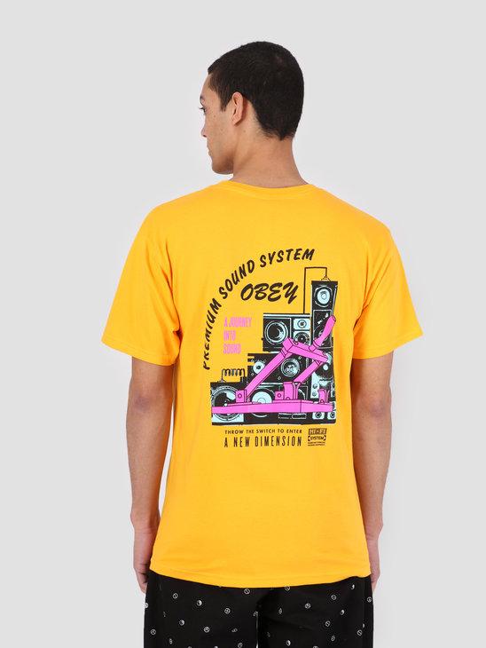 Obey Obey Soundsystem T-Shirt GLD 163081914