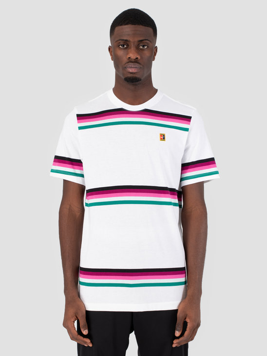 Nike Nikecourt T-Shirt White Multi Color Ao1148-100