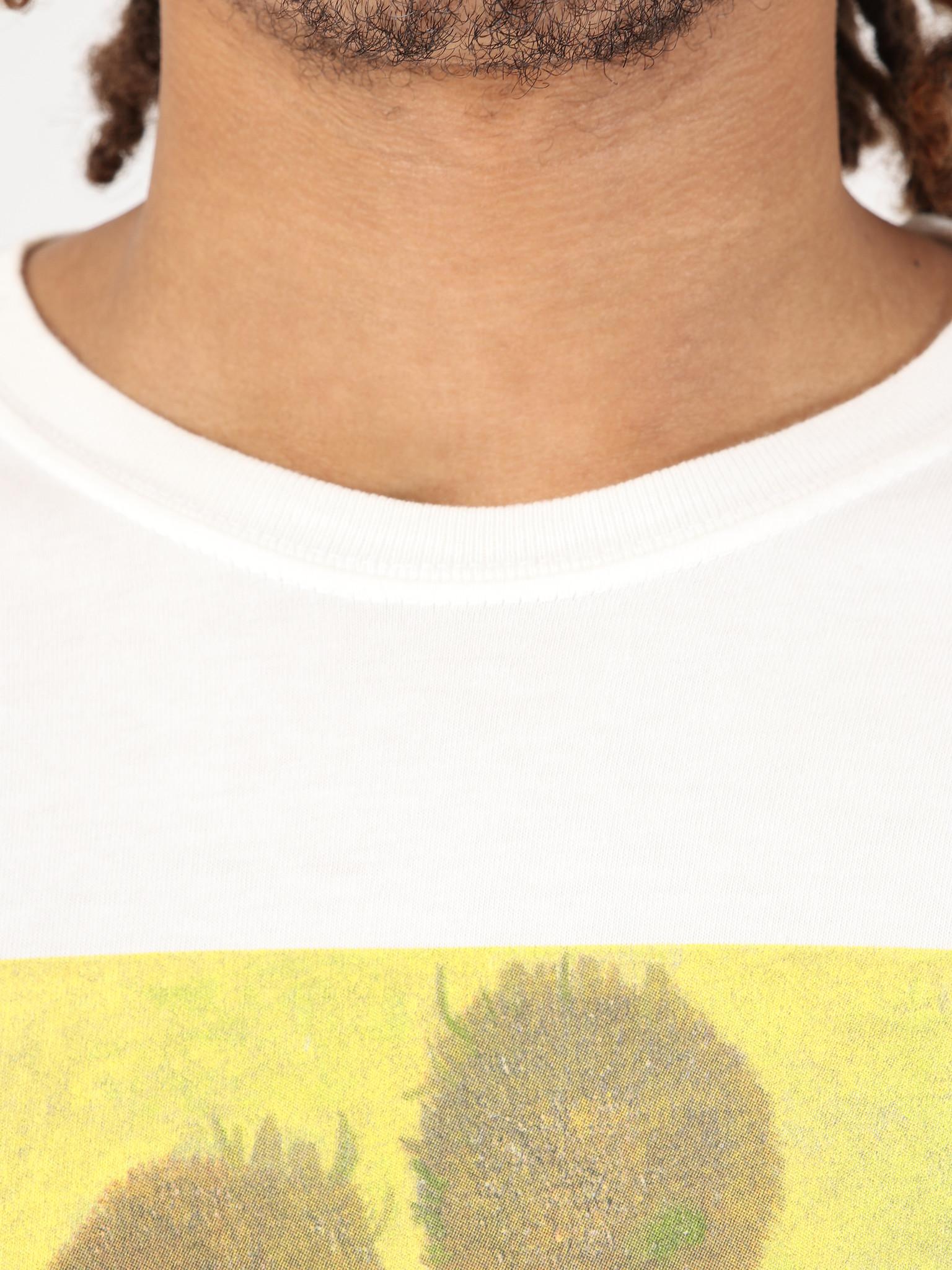 Stussy Stussy Sunflower Dip Dyed Longsleeve T-Shirt Yellow 0201