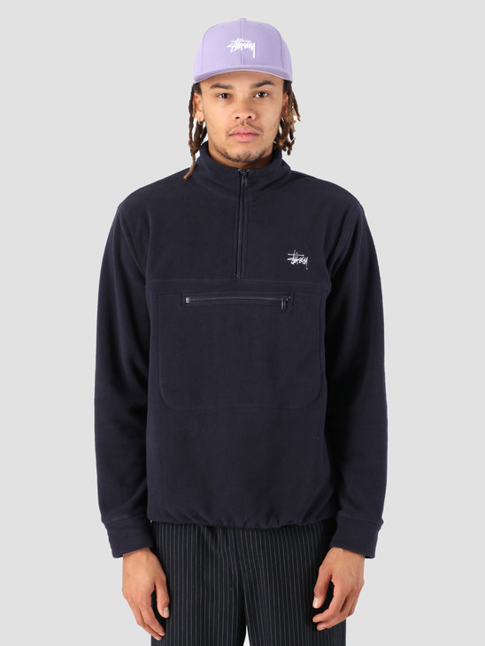 Stussy Polar Fleece Mock Neck Navy 0806