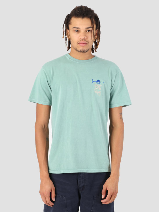 Stussy Groove Beats Pig. Dyed T-Shirt Sage 1059