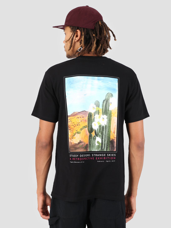 Stussy Cactus Sky T-Shirt Black 0001