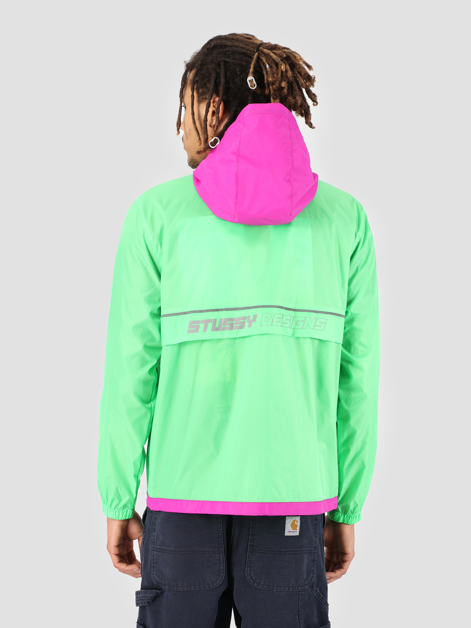 Stussy Stussy Honeycomb Hooded Jacket Green 0401