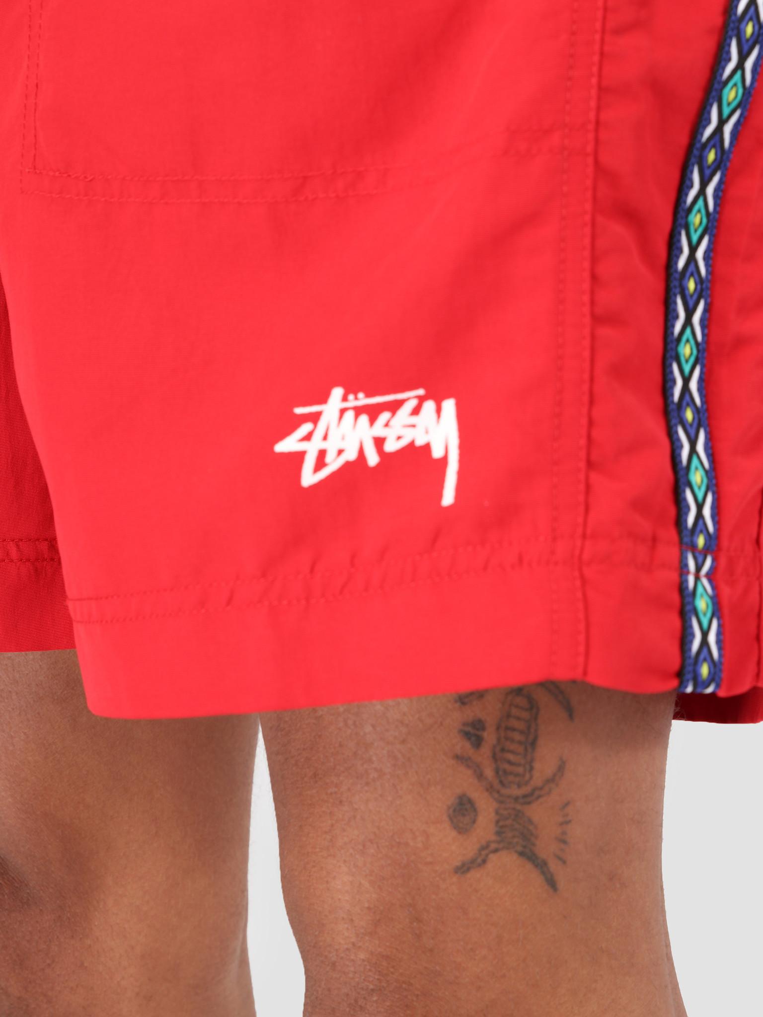 Stussy Stussy Taping Nylon Short Red 0601