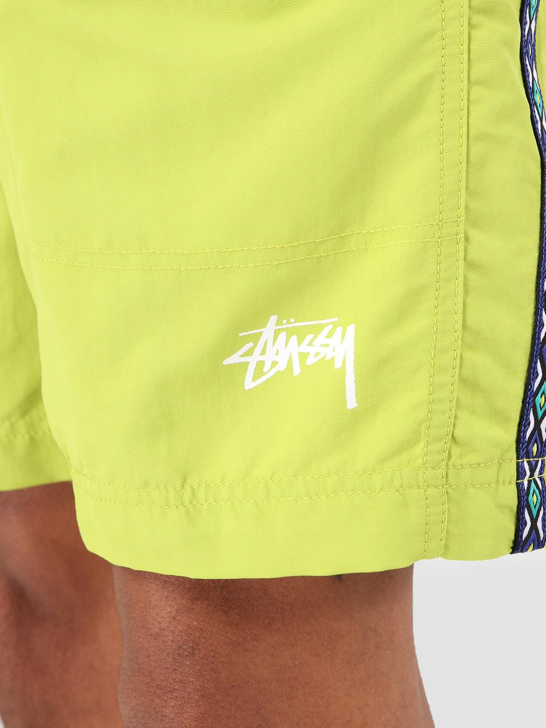 Stussy Stussy Taping Nylon Short Lime 0412