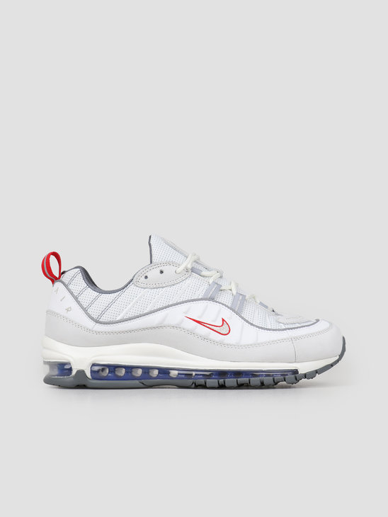 Nike Air Max 98 Summit White Metallic Silver Cd1538-100