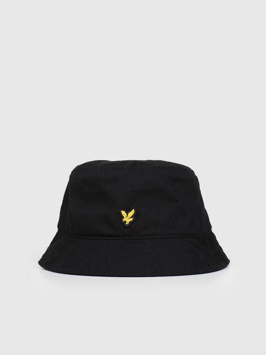 Lyle and Scott Cotton Twill Bucket Hat 572 True Black HE800A