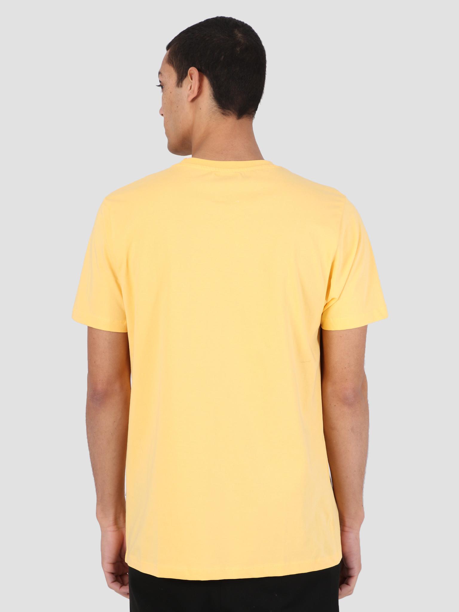 Quality Blanks Quality Blanks QB03 Patch Logo T-shirt Banana Cream