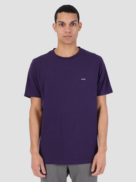 Quality Blanks QB03 Patch Logo T-Shirt Egg Plant Purple