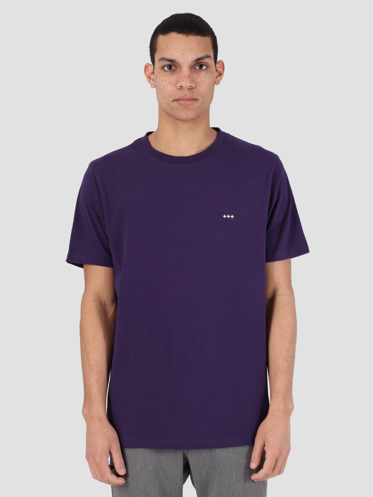 Quality Blanks Quality Blanks QB03 Patch Logo T-Shirt Egg Plant Purple