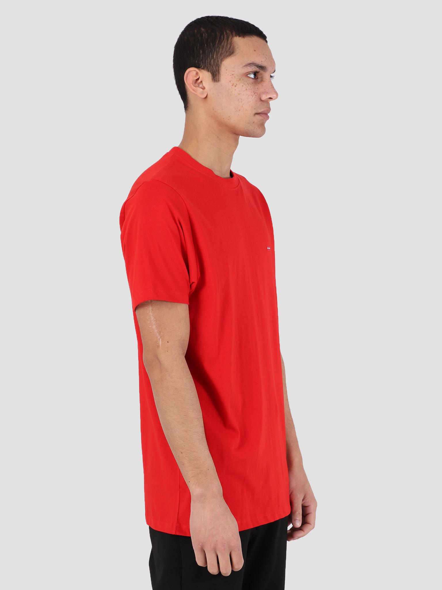 Quality Blanks Quality Blanks QB03 Patch Logo T-shirt Molten Lava